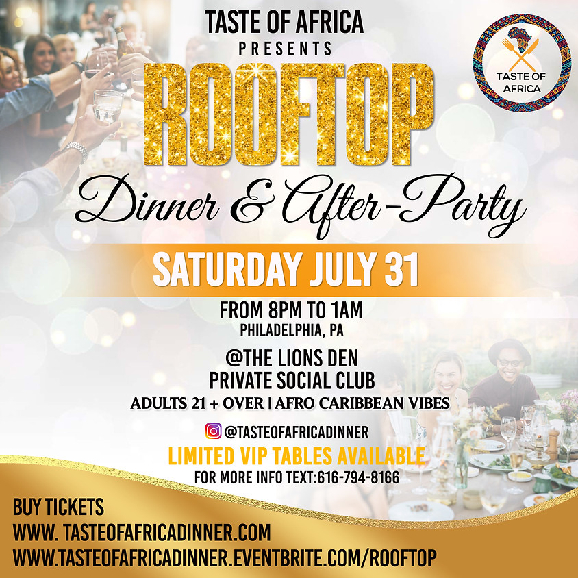 Taste of Africa Rooftop Dinner & After-Party