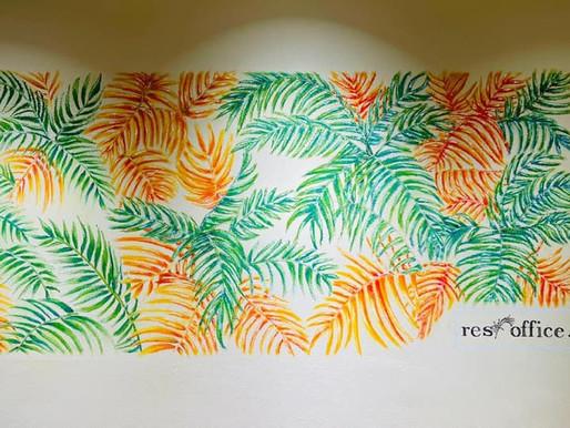 ウォールアート制作「コワーキングスペース Resoffice.湘南藤沢」(神奈川県藤沢市)