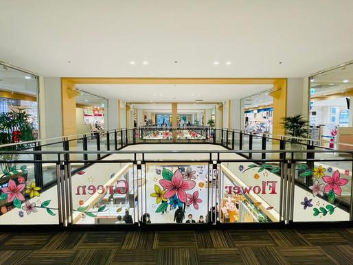 チョークアートで館内をジャック!kitpasで描く「ガラスチョークアート」(ニッケコルトンプラザ/千葉県市川市)
