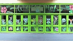 魔法のチョークkitpasで描く「ガラスチョークアート」(アツギトレリス①/神奈川県厚木市)