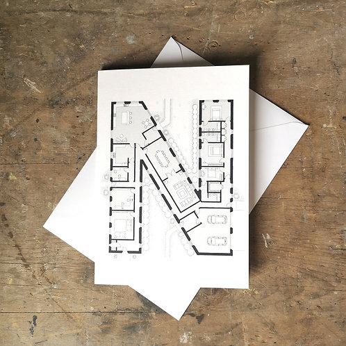 Alphabet Floorplan 'N'