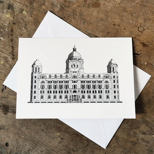 The Port of Liverpool Building Greetings Card