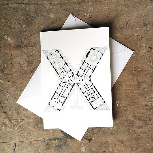 Alphabet Floorplan 'X'