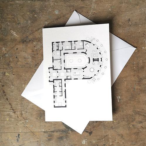 Alphabet Floorplan 'P'