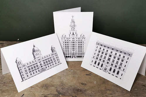 The 3 Graces pack of 3 cards