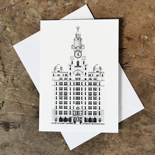 The Liver Building Greetings Card
