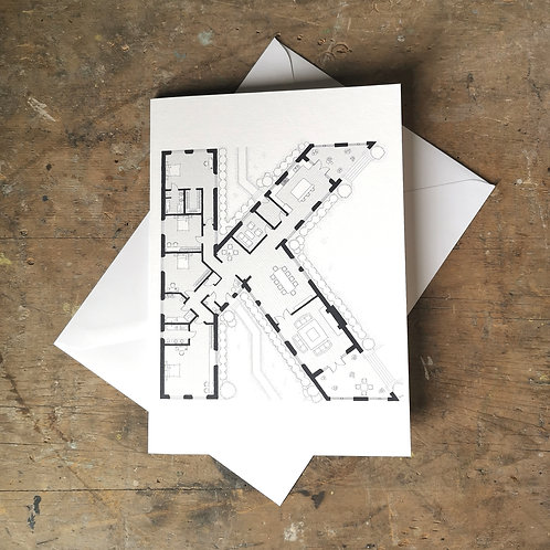 Alphabet Floorplan 'K'