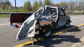 Church van and pickup truck collide at Virginia Avenue and Oak Level Road