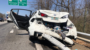 Several people were taken to the hospital following a crash in Ridgeway