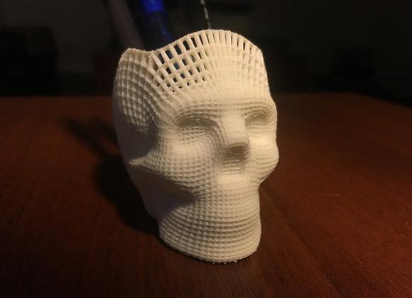 Wire-frame Skull Pencil Holder