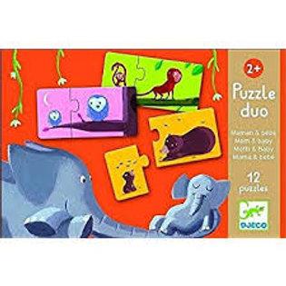 Mum & Baby - 12 duo puzzles