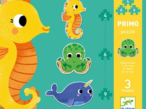 """Djeco 3 puzzles in one - """"In the Sea"""""""