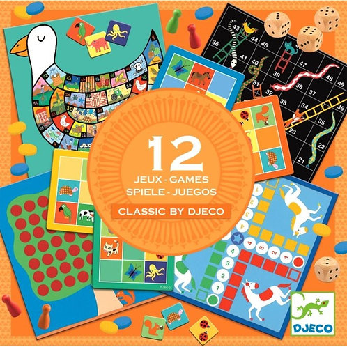 12 Classic Games by Djeco
