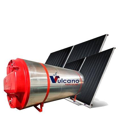 02 Placas + Boiler 400 litros Vulcano