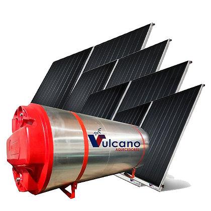 04 Placas + Boiler 600 litros Vulcano