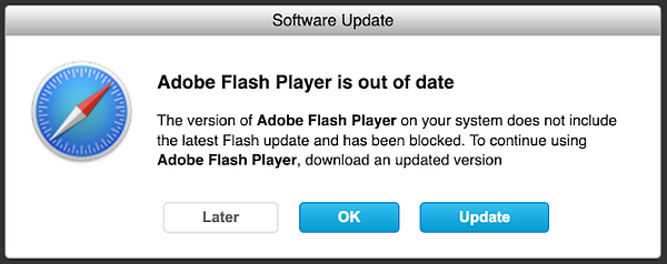 Adobe Flash Scam
