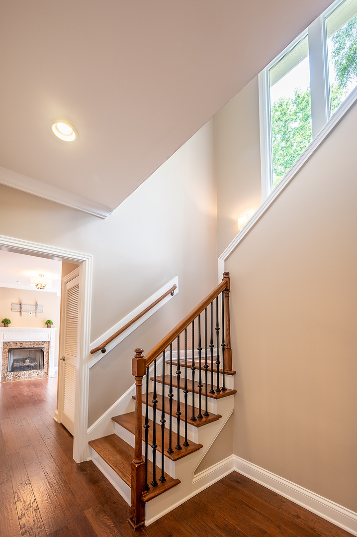 Franklin Townhome staircase with windows