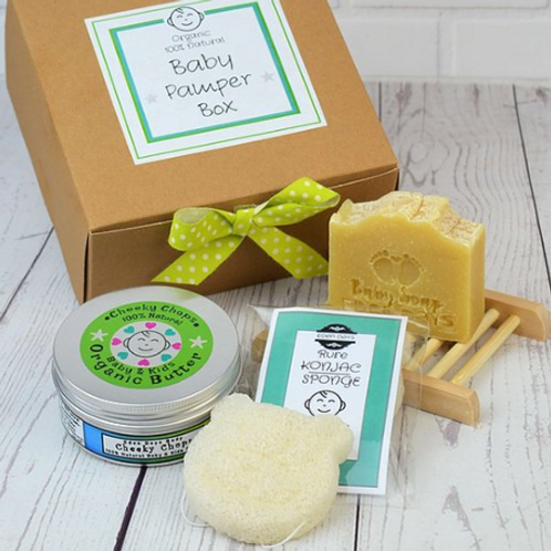 Cheeky Chops Organic Baby Pamper Set with Konjac