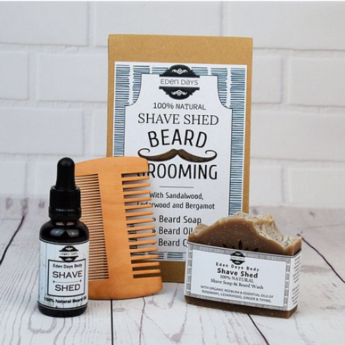 Beard Grooming Set - Cedarwood, Bergamot & Sandalwood