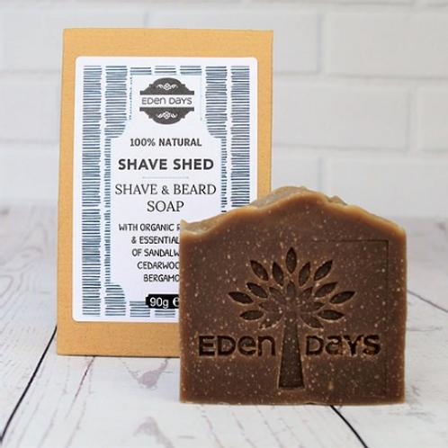 Shave Shed Shave Soap & Beard Wash - Cedarwood, Bergamot, Sandalwood & Redbush