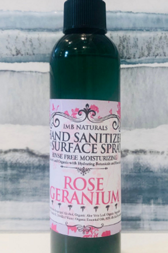 Rose Geranium hand sanitizer Spray
