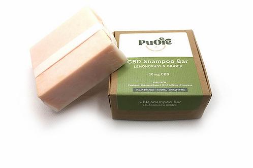 Lemongrass & Ginger CBD Shampoo Bar