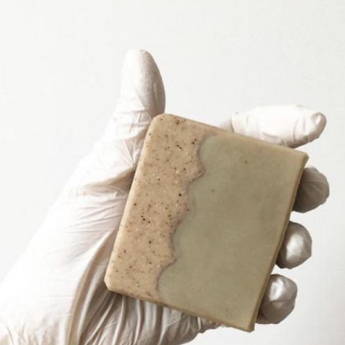 Organic goats milk soap bar with Epsom salt