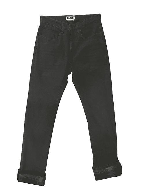 Gray Plaid Cuffed Gray Jeans