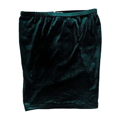 Velvet Emerald Mini Skirt