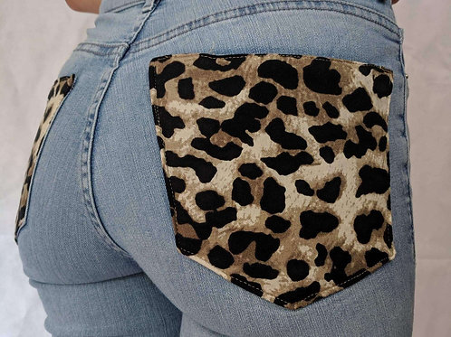 Cheetah Pocket Jeans
