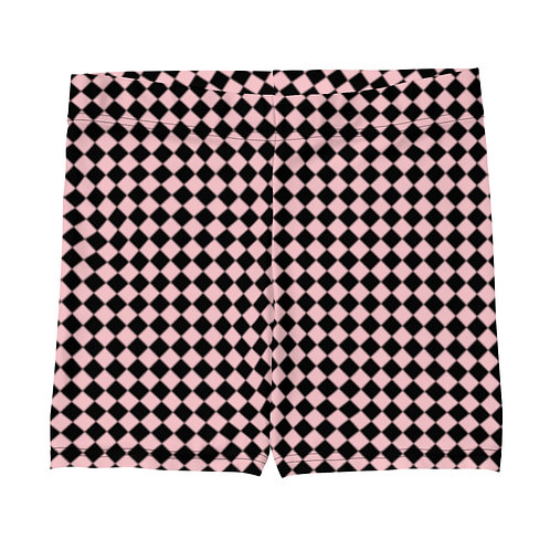 Pink and Black Checkered Shorts