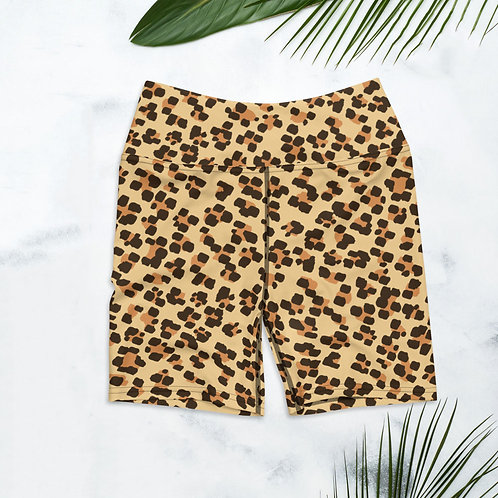 Leopard Yoga Shorts