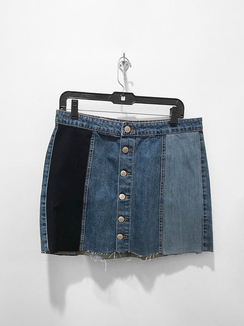 Tri-Toned Denim Skirt