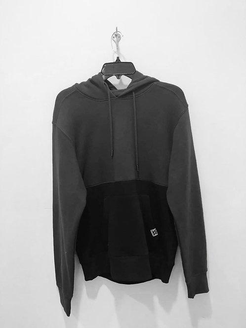 Gray & Black Colorblock Hoodie