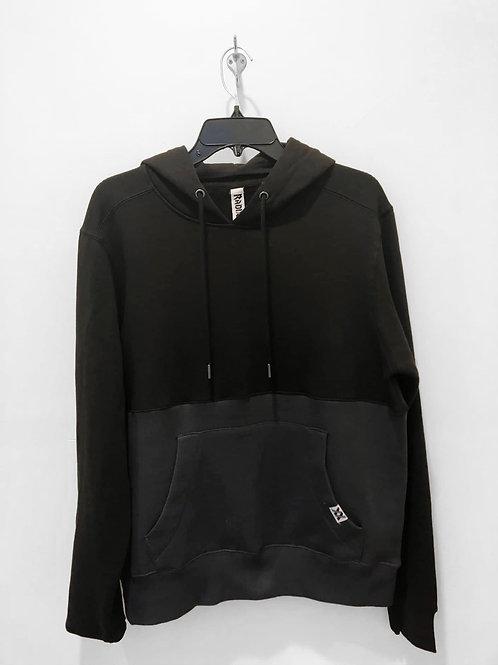 Black & Gray Colorblock Hoodie
