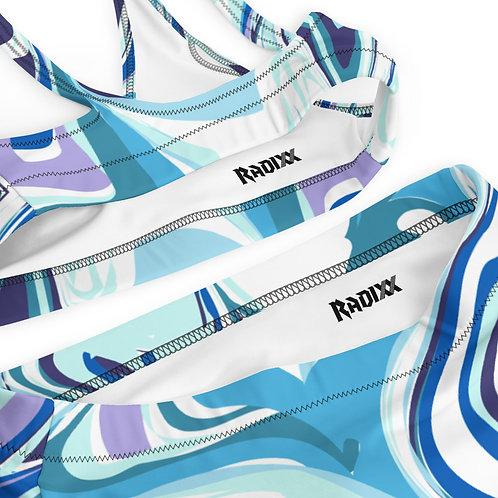 Swirled Paint Recycled High-Waisted Bikini