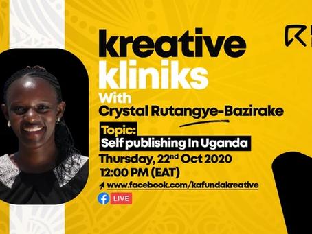 Takeaways from Crystal Rutangye's #KreativeKlinik on Self-Publishing In Uganda