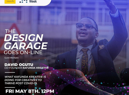 #TheDesignGarage: David Ogutu on What Kafunda Kreative is doing for Creatives to Thrive Post COVID19