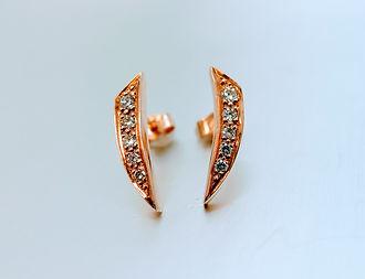 Rose gold Diamond set earrings