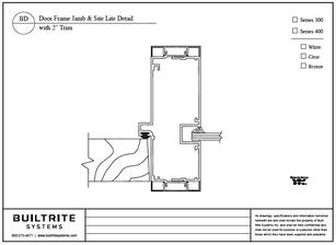 """Door Frame Jamb & Site Lite Detail with 2"""" Trim"""