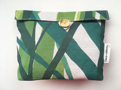 'MARK' (natural, British linen)  cosmetics bag