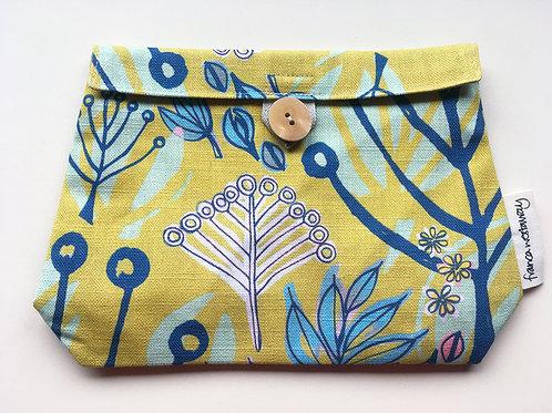 'TOKYO' (yellow/blue) cosmetics bag