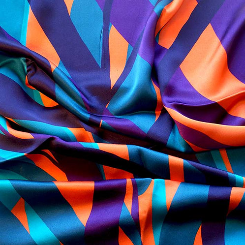 'MARK' orange, silk scarf