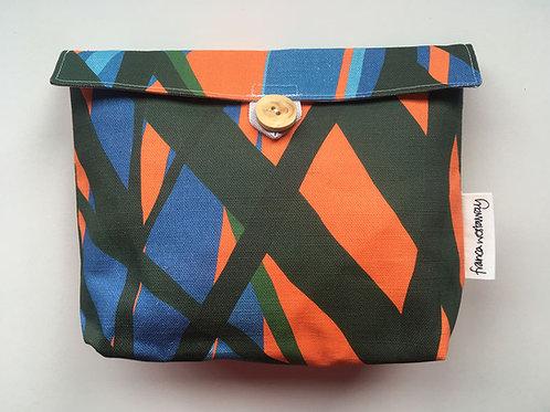 'MARK' (orange)  cosmetics bag