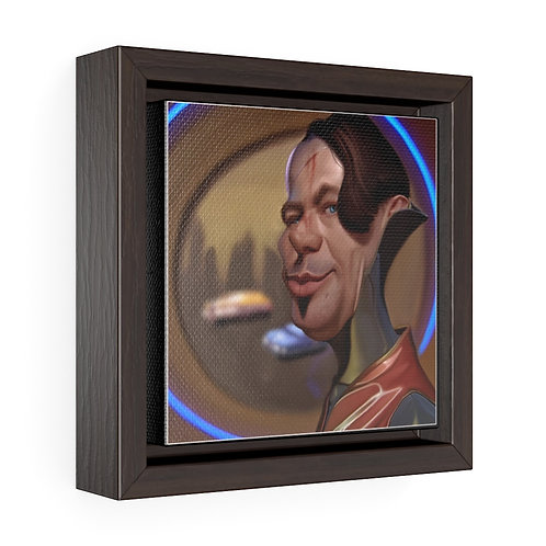 Bulman Pop-scene - The Fifth Element -Square Framed Premium Gallery Wrap Canvas