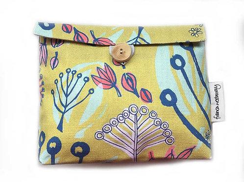 'TOKYO' yellow/pink - cosmetics bag