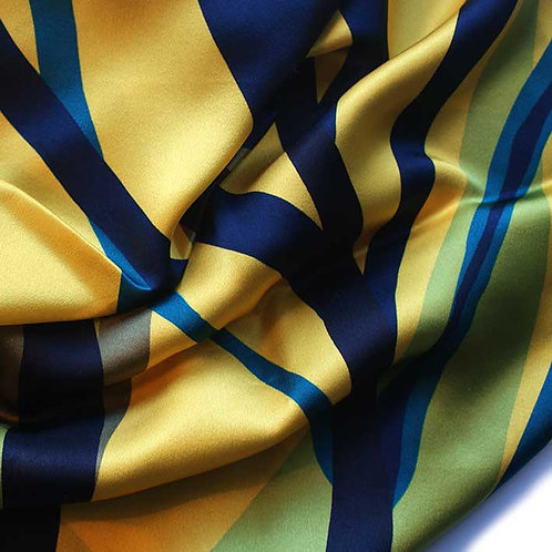 'MARK' ochre, silk scarf