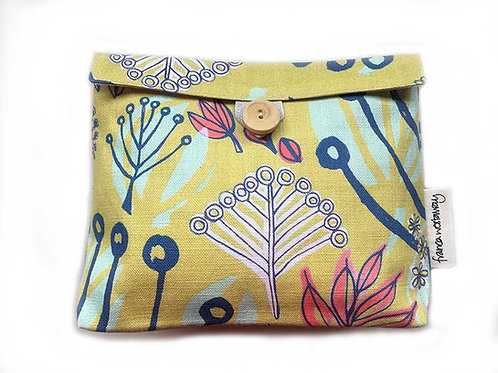 'TOKYO' yellow/pink (2)  - cosmetics bag