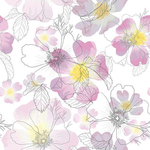 'Dog Rose' - fabric