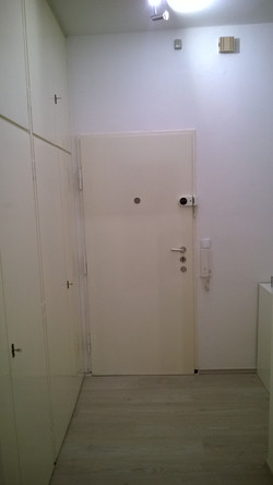 Hall with cupboard